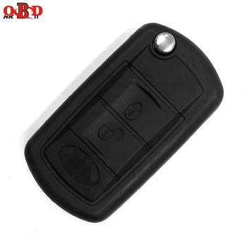 HKOBDII 3 Buttons Flip Car Key Case Shell for Land Rover Range Rover Sport LR3 Discovery 3 Fob With Logo