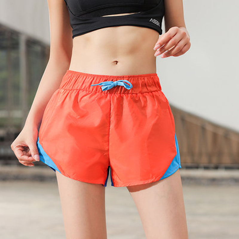 New Women Double Layer Safety Yoga Shorts Outdoor Running
