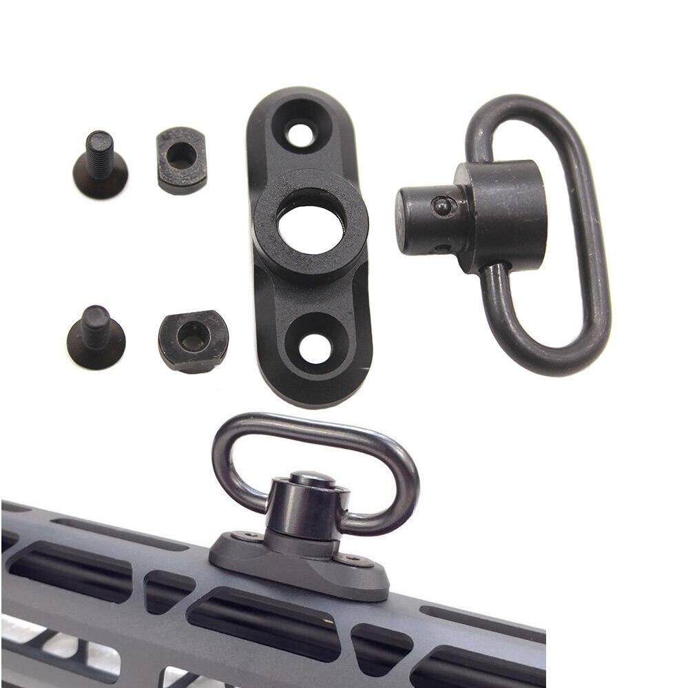 Push Button QD Rifle Sling Mount Adapter KeyMod Slings For Key Mod System And M-LOK HuntingPush Button QD Rifle Sling Mount Adapter KeyMod Slings For Key Mod System And M-LOK Hunting