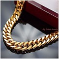 "8-40"" 10mm Charming Jewelry 316L Stainless Steel Gold Plated Curb Cuban Chain Mens  Necklace&Bracelet Tone Link Top Quality"