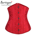 Burvogue Dobby Waist Corsets And Bustiers Underbust Corset Steel Cincher Bustiers For Women 24 Steel Boned Corselet