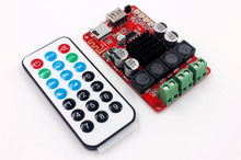 TPA3116 50W+50W Bluetooth Receiver Digital Audio Amplifier Board TF card U disk  player FM Redio With Remote control For Speaker