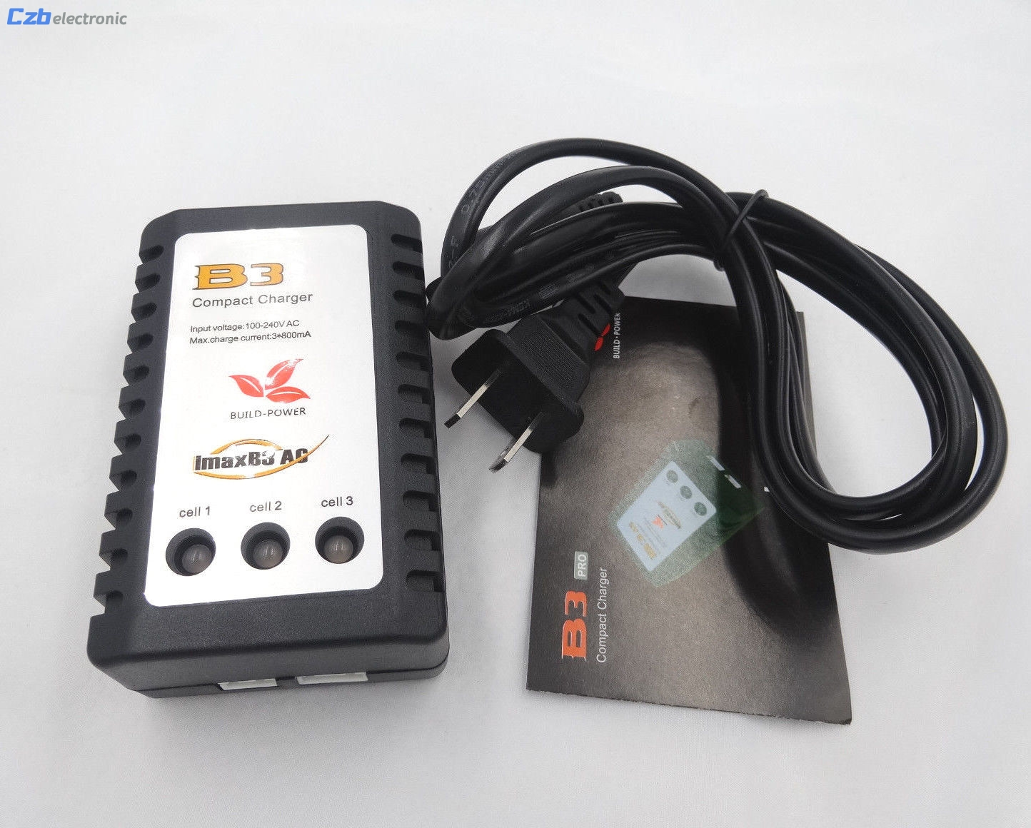 High Quality New Multifunction iMaxRC iMax B3 Pro Compact 2S 3S Lipo Balance Battery Charger EU US Plug For RC Helicopter ...