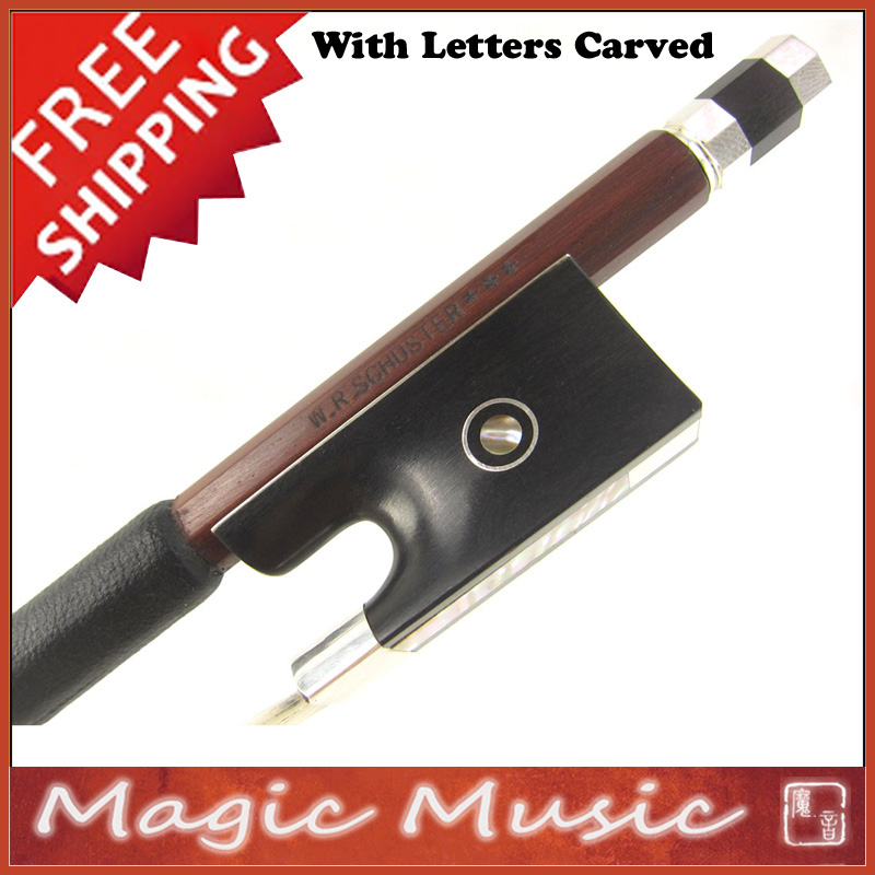 Free Shipping Sartory Model W R Schuster Master Level Silver IPE Concert Violin Bow 4