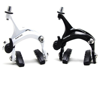 XMFOX AS2.3 Brake for Road Bicycle Racing Dual Pivot Brake clamp pads Aluminum Side Pull Caliper Brake Front Rear White&Black