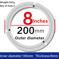 8 Inch Aluminum Lazy Susan Swivel Plate Round Turntable Bearings