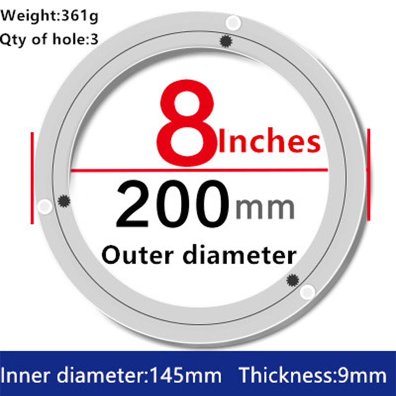 2pcs 8 inches 20cm Small Swivel Plate of Aluminium Alloy Material for Kitchen Furniture Lazy Susan Turntable Dining Table