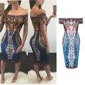 2016 Европейских и Американских большой моды цифровой 3D печати воротник национальный ветер личность женщины dress sexy ночной клуб