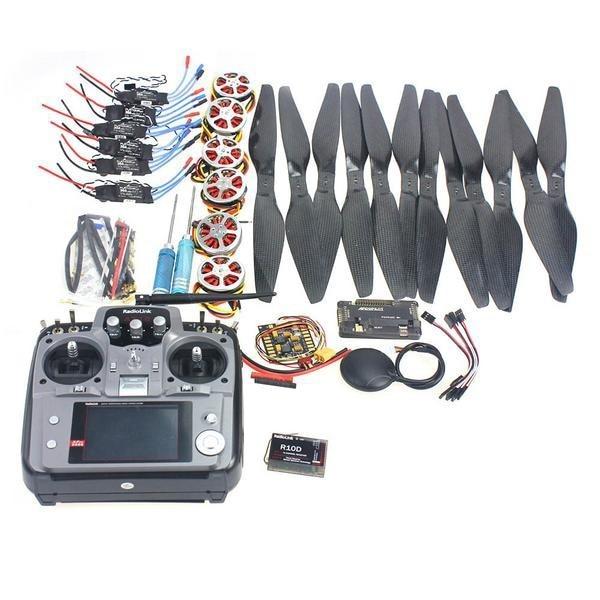 F05422-F 6 Axle Foldable Rack RC Quadcopter Kit APM2.8 Flight Control Board+GPS+750KV Motor+14x5.5 Propeller+30A ESC+AT10 TX f450 450mm pcb version quadcopter rack frame kit naza m lite flight controller board