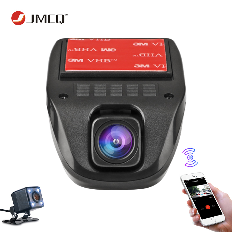 JMCQ WiFi Car DVR two cameras Loop video Full HD 1080P car cameras Registrator Dash cam Digital Video Recorder parking monitor hgdo new car dvr rearview mirror video recorder two cameras full hd 1080p video registrator night vision loop video dash cam