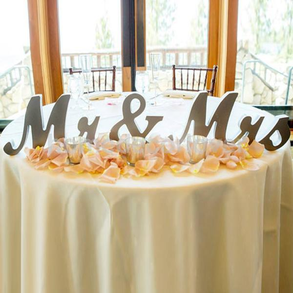 large wedding mr mrs wooden letters freestanding shining silver sign decorchina mainland