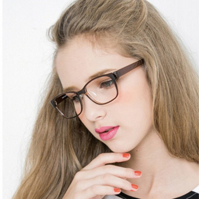 3016db73346f Square Female Eyeglasses Famous Brand Transparent Computer Glasses Frame  Black Spectacles Women Nerd Myopia Clear Glasses