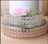 K9 Crystal Metal Cake Stand Cupcake Display Pan Candy Bar Table Decoration Dessert Fruit Plate Wedding