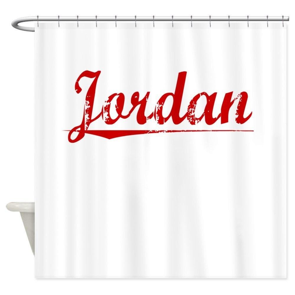 Jordan Vintage Red Shower Curtain Mat Decorative Waterproof Polyester Fabric Bathroom Set Home Bath Decor