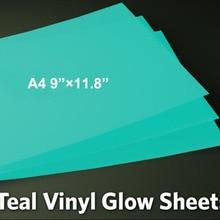A4 листы светится в темноте клейкие знаки автомобильные отличительные знаки футболки стены делая пленку ленты для силуэт плоттеры светоотражающий виниловый
