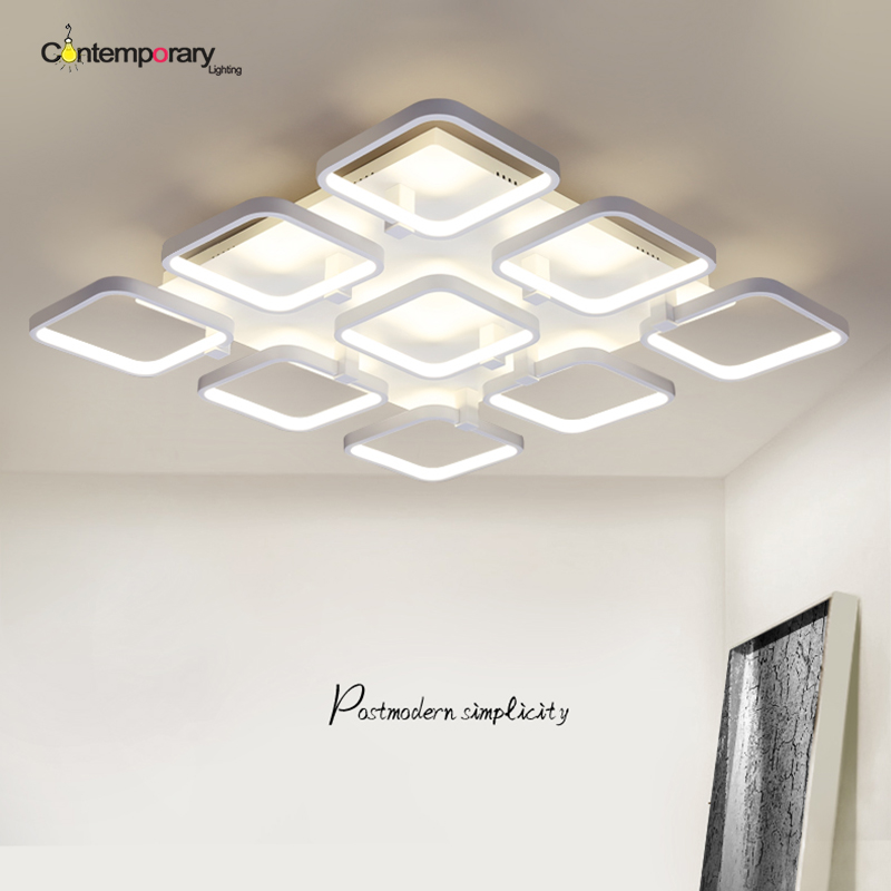 Retro Modern LED ceiling light for living room hall bedroom Plafonnier LED home Light design ceiling lamp luminarias para sala