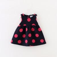 Bow Sashes Clothes Princess Toddler Girls Autumn Winter Woolen Dress Kids Baby Polka Dot Children Sleeveless