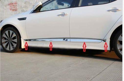 Chrome door Side Molding Trim 8pcs For Kia Optima K5 2011 2012 2013 2010 2012 ford taurus chrome side door trim moldings 2pc 2011 10 11 12