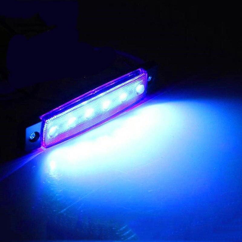 4 x marinho barco grau 12 volts grande led luzes de cortesia azul branco