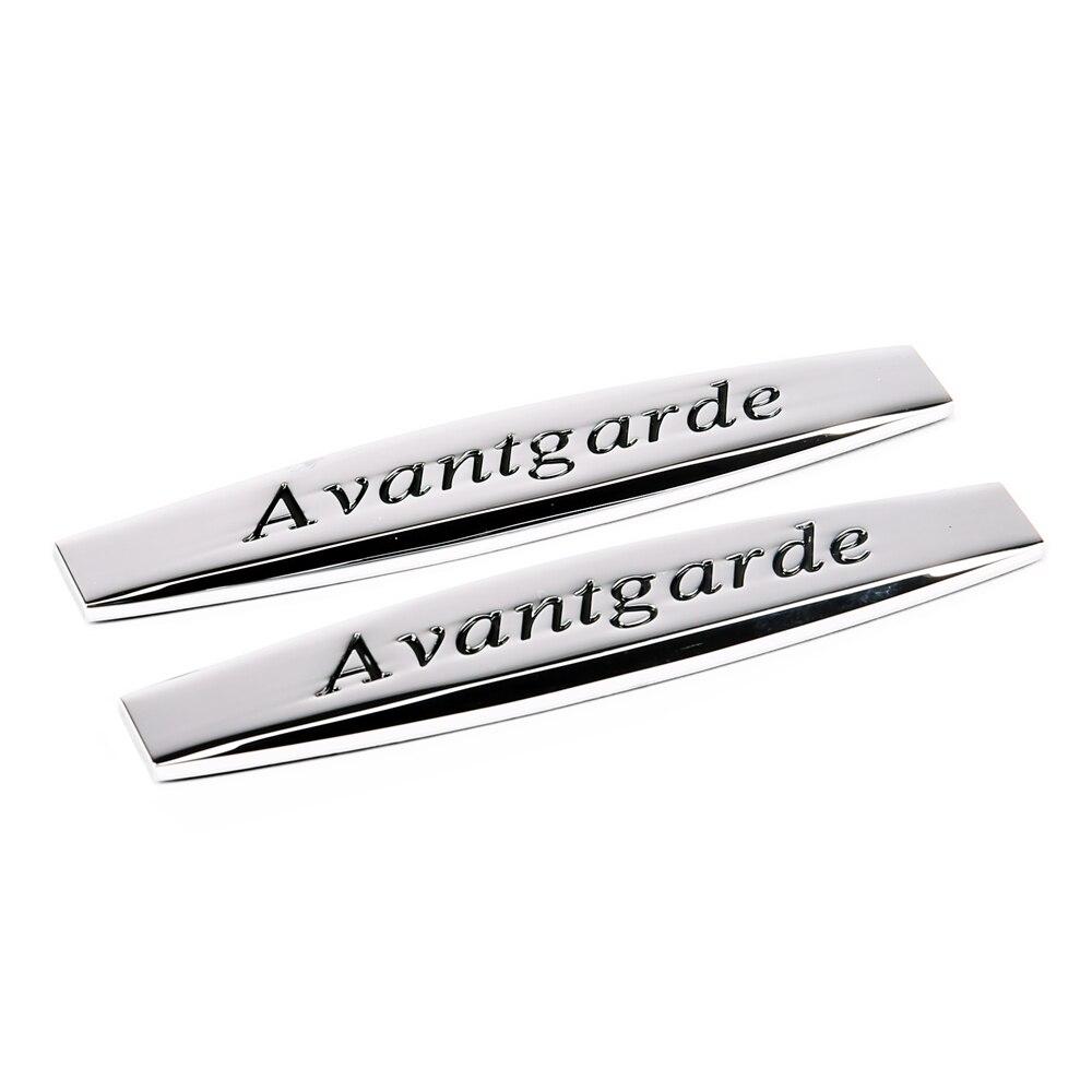 For Avantgarde Logo Car Fender Sticker Emblem Badge Car Styling For Mercedes Benz W203 w204 W211 SLS GLK CLA C180 E200 E300 S320 new car rear sticker emblem badge decal car styling auto car accessories for mercedes benz 300sel 500sel 560sel 600sel w126 w140