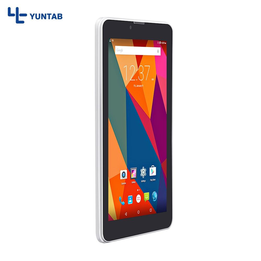 "7"" E706 Yuntab GPS Double Mini SIM Card 1.3GHz Quad Core Cortex A7  IPS Dual Camera 1GB+8GB Phone Call Tablet PC"