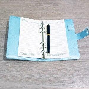 Image 2 - Novo caderno de couro com código de bloqueio diário pessoal negócio grosso bloco de notas espiral personalizado material escolar escritório presente
