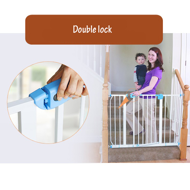 Free ship babysafe metal iron gate baby safety gate pet isolation fence 75 82cm width Multi size gate in Gates Doorways from Mother Kids
