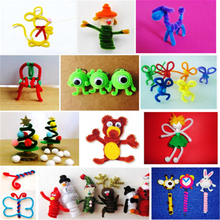 100Pcs/set Educational Toys Montessori Materials Chenille Children Sticks Puzzle Craft Colorful Pipe Cleaner Handmade DIY Toys