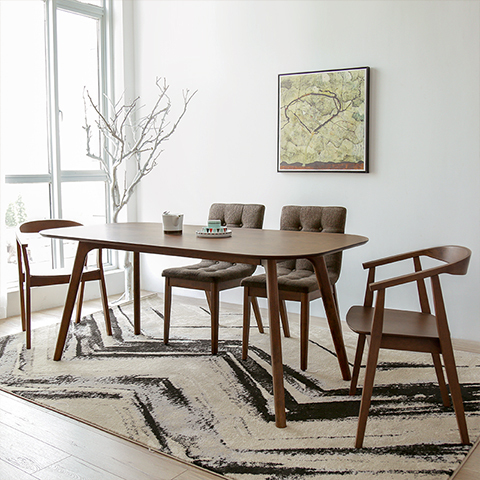 Nordic Ikea Dining Table Small Apartment Minimalist Modern Wood Dinette Walnut Color In Tables From Furniture On Aliexpress