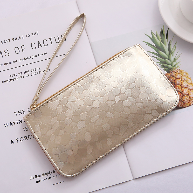 JANE'S LEATHER Brand Woman's Purse 2019 Long Clutch Bright Leather Wallet Card Bag For Sac Femme Carteira bolsa feminina Mujer