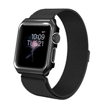 Compatible for Apple watch4 Band 44mm,Mesh Milanese Loop with Case Stainless Steel Wrist iWatch Strap Magnet Clasp