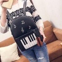 Spring Music Backpacks Piano Musical Violin Printing Backpack For Teenage Girls Bookbag Students School music center note bag872