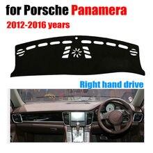Приборной панели автомобиля Обложка Коврик для Porsche Panamera 2012-2016 правый руль dashmat Pad тире охватывает приборной панели авто аксессуары
