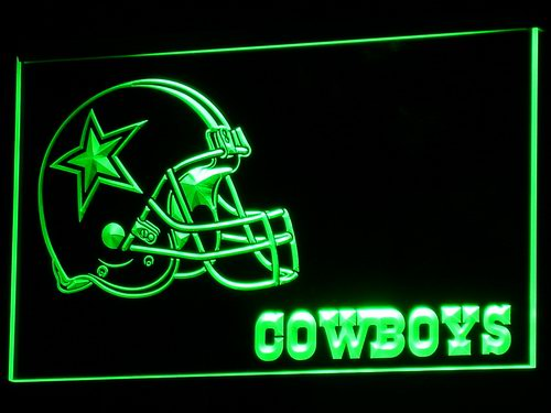Dallas Cowboys Helmet Neon Signs Led Signs with On/Off Switch 7 Colors B317
