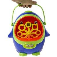 Portable Penguin Shape Automatic Bubble Machine Bubble Blowing Soap Bubbles for Outdoor Party Bubbles Maker Toy Kids Gift