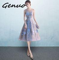 Genuo New 2019 Women Velvet Dress Elegant Trumpet Formal Party Dress Long Sexy Blue Vestido Straps Halter Kadife Dress