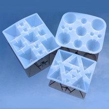 Resin Jewelry Liquid Silicone Mold Big Pyramid Shape DIY Molds Making Finding Accessories