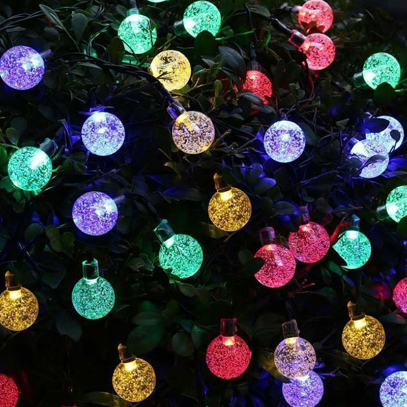 LED String Light Bulb Ball Solar Lights Outdoor Garden Fence Courtyard Decoration Soft Light Solar Sting Lights