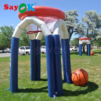 PVC giant inflatable basketball hoop with air pump for sale