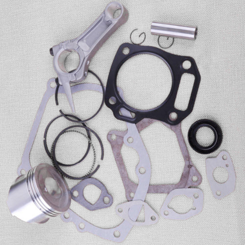 10pcs/set Piston Pin Circlip Ring Oil Seal Gasket Kit For Honda GX160 5.5HP Engine
