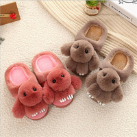 Winter Children's Slippers Plush Kids Home Shoes Thickening Thick Bottom Warm Cotton Shoes Cartoon Children's Slippers Kids
