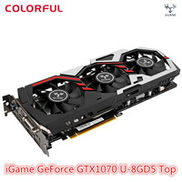Original Colorful iGame GeForce GTX1070 U 8GD5 Top Graphics Card 8GB GDDR5 256bit with HDMI / DVI / DP 1.4 Interface