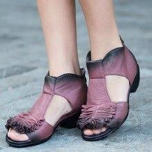 หมูธรรมดาสีแดงรองเท้าส้นสูงหนุ่มGrilปลาปากรองเท้ารองเท้าส้นสูงZip Cowhide TสายFull G Rainหนังจริง