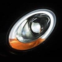 1 пара автомобилей дневного ходовые огни DRL Высокая ближнего света светодио дный фары в сборе для Mini Cooper F54 F55 F56 F57 интимные аксессуары