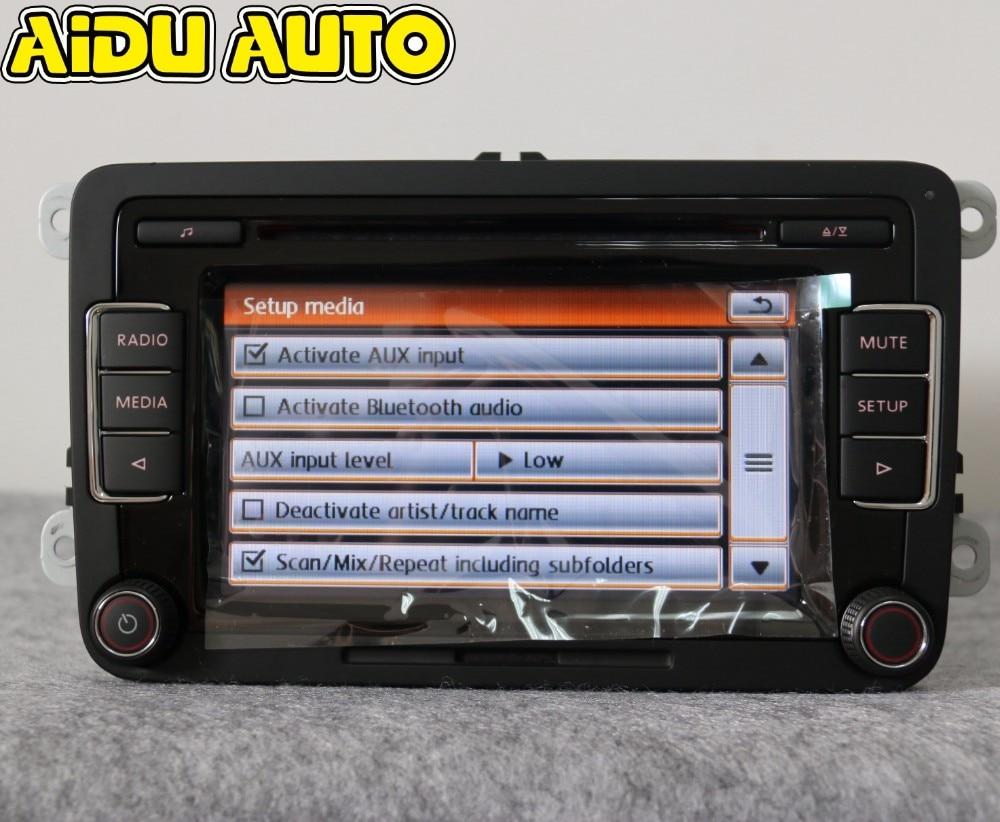 AIDUAUTO Stereo Autoradio RCD510 USB Lettore MP3 USB AUX PER VW Golf 5 6 Jetta MK5 MK6 CC Tiguan Passat Polo - 2