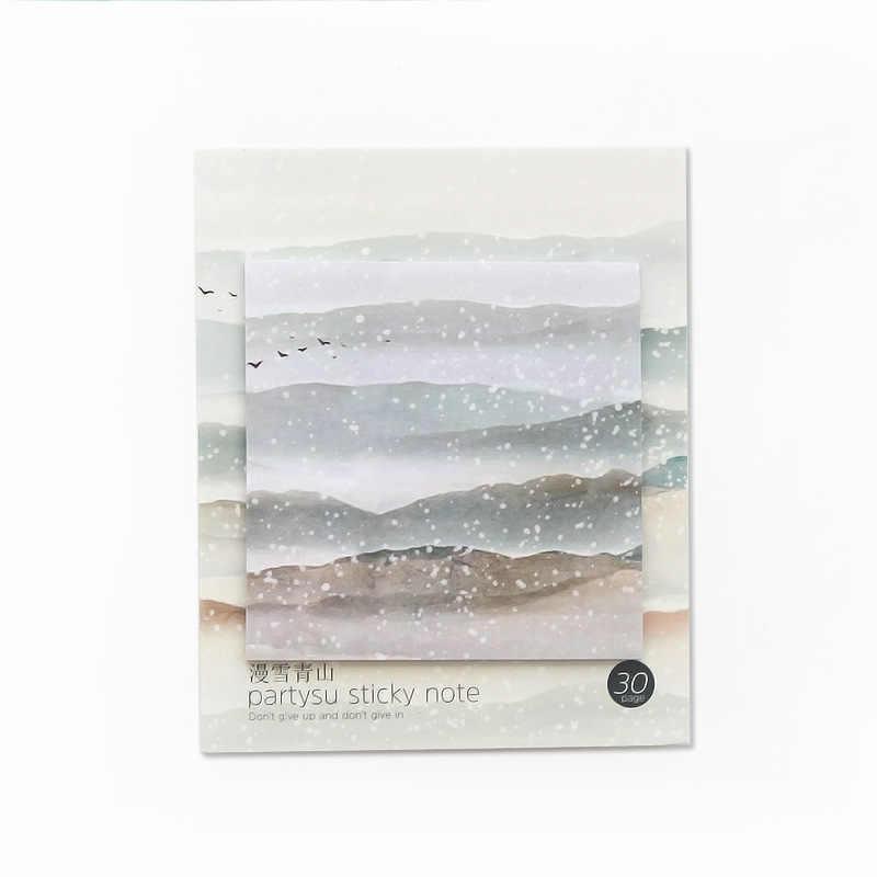 30 pçs/set notebook kawaii bonito teste padrão da neve Decoração Diário planejador escritório produtos de papelaria adesivos