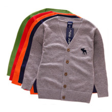 Baby Boys Sweater Cardigan 2017 New Spring Cotton Clothing V-Neck Knitted Jacket Autumn Sweater Coat Little Children Clothes