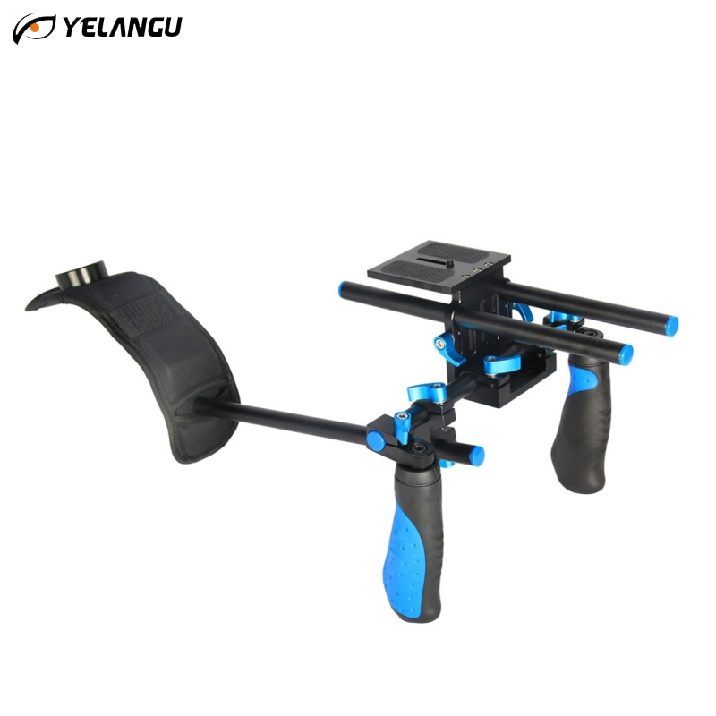 YELANGU Professional DSLR Dual Handle Shoulder Mount Rig Video DV Accessories For Canon 5D2 5D3 7D 70D 60D 5D Mark III D810 D610 штатив canon dv