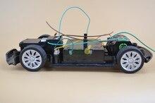 Diy plástico del coche del RC Drift chasis del vehículo con motor chasis del coche de RC Racing chico juguete coche de juguete