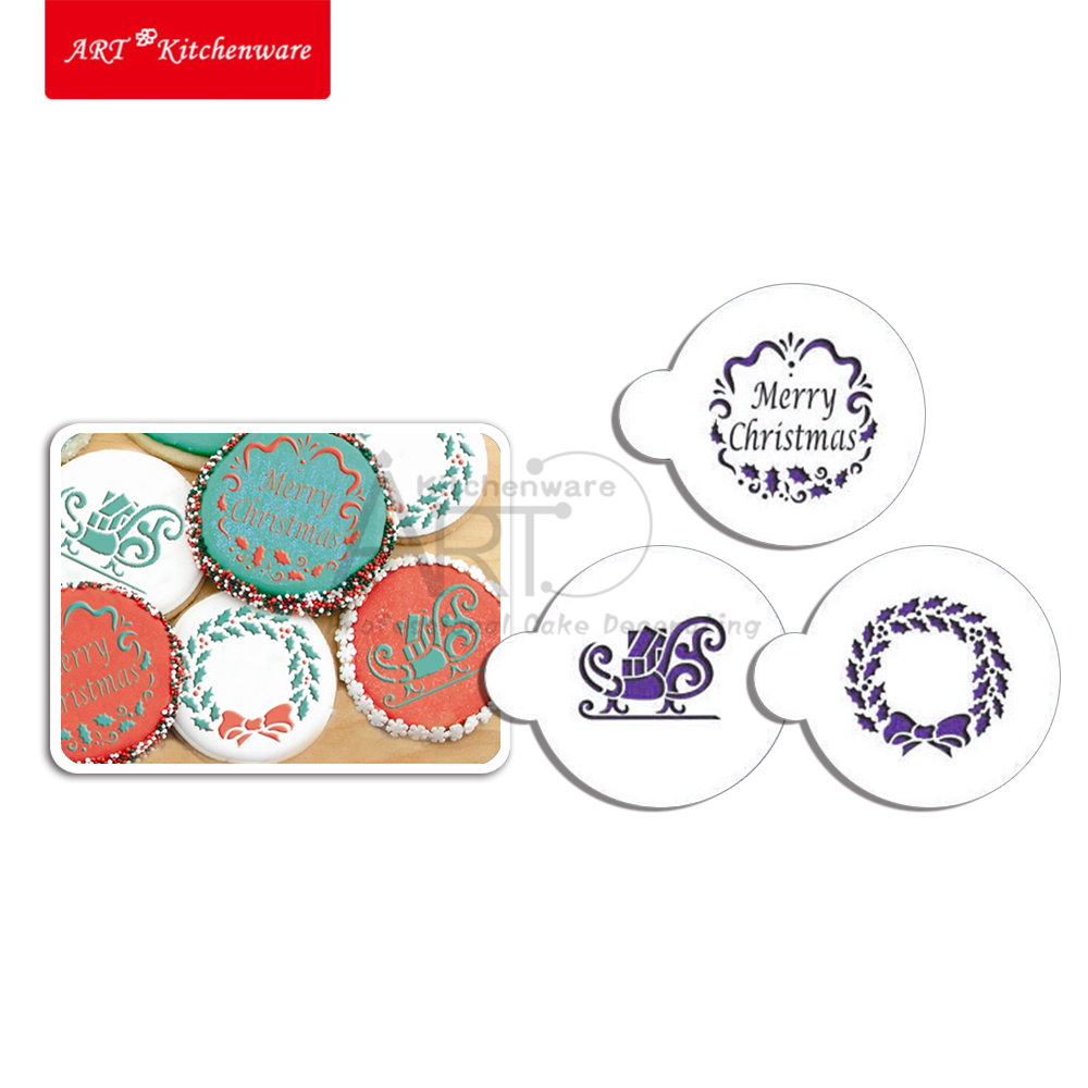 Cake Decorating Number Stencils : Christmas Candy/Cookie Stencil Cake Stencil Template ...